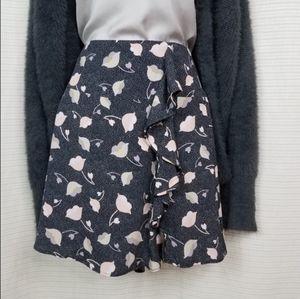 Ann Taylor Loft floral skirt size 2